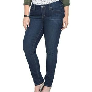 Torrid Curvy Skinny Jeans Size 18T Dark Medium